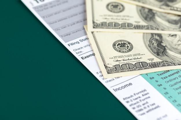 米国個人所得税申告。