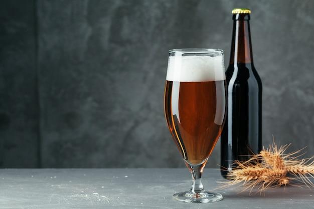 Бутылка пива и стакан