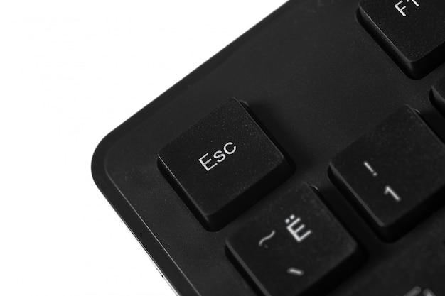 Черная клавиатура ноутбука крупным планом