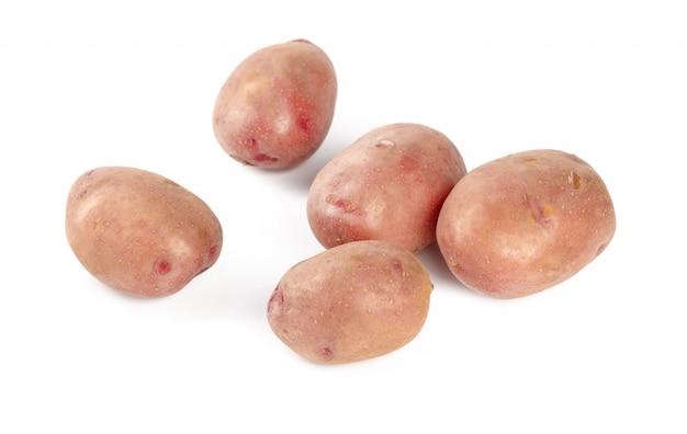 白で隔離されるジャガイモ