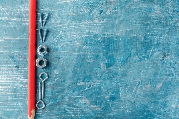 青色の背景にさまざまな作図ツール