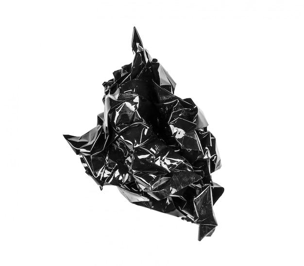 分離された黒の電気テープ