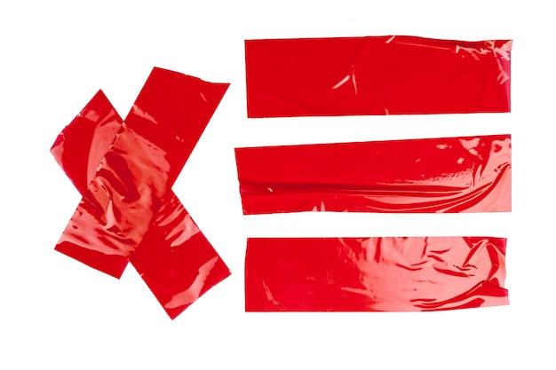 分離された赤いダクト修理テープ