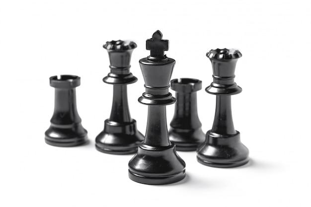 白で隔離されるチェス