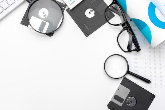 Проверка увеличительного стекла на дискете