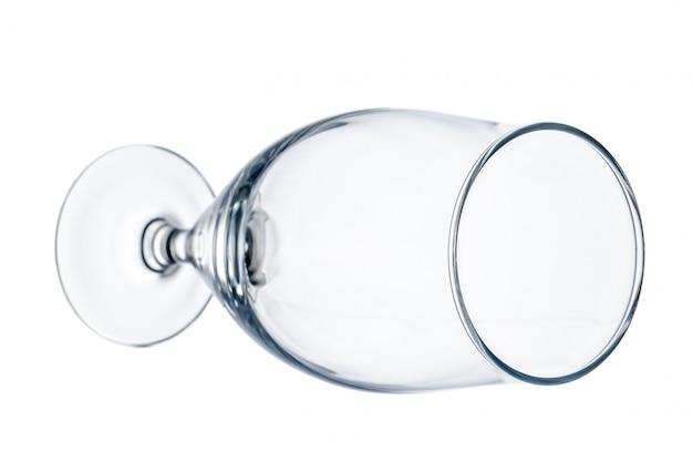 Пустой пивной бокал. изолированные на белом