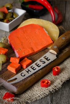 パプリカとトマトのレッドチーズ。