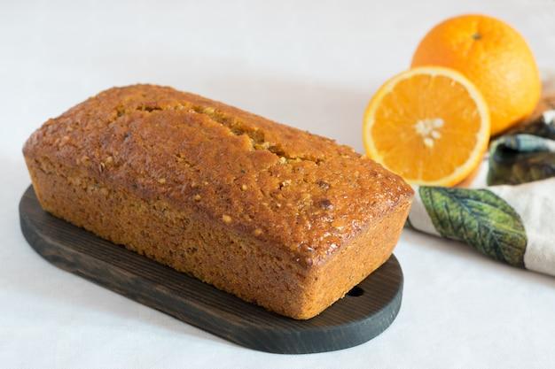 Морковный торт с апельсиновым и ореховым орехами пекан