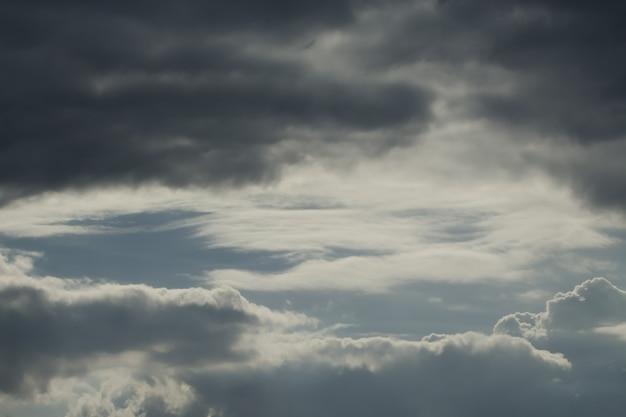 Резкое небо с грозовыми облаками.