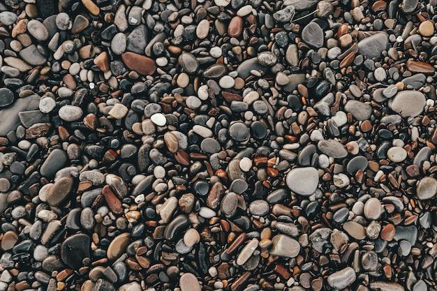 濡れた海の小石