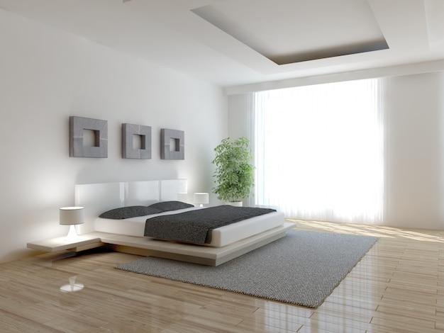 モダンで豪華なベッドルームのインテリア