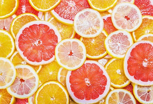 柑橘系の果物と背景