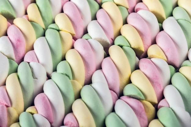 マシュマロパステル調の色合い。お菓子の背景