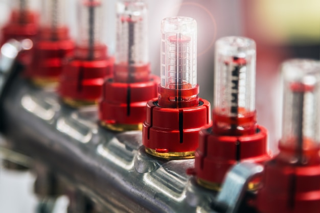 Система датчиков в водных или газовых системах