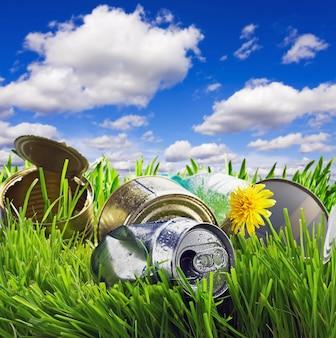 Мусор на траве