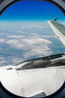 飛行機からの空の眺め