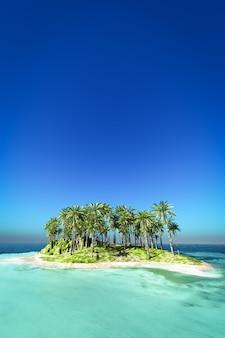 海から見た島