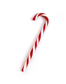 分離されたクリスマスキャンデー杖