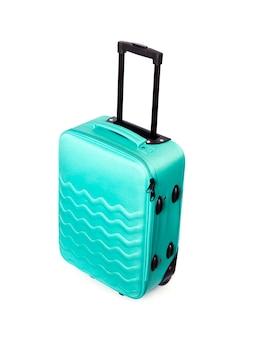 Яркий бирюзовый дорожный чемодан