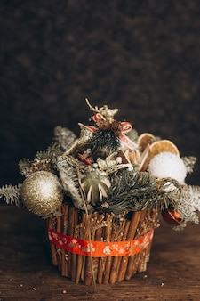 新年の冬やクリスマスの装飾