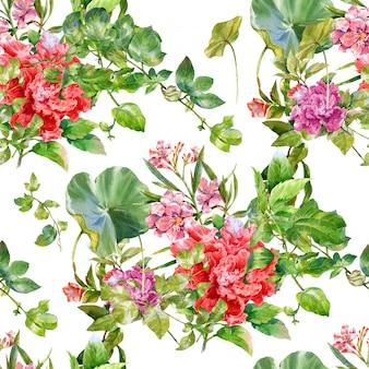 Акварельная цветочная роспись