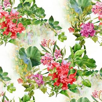 水彩画の花の絵