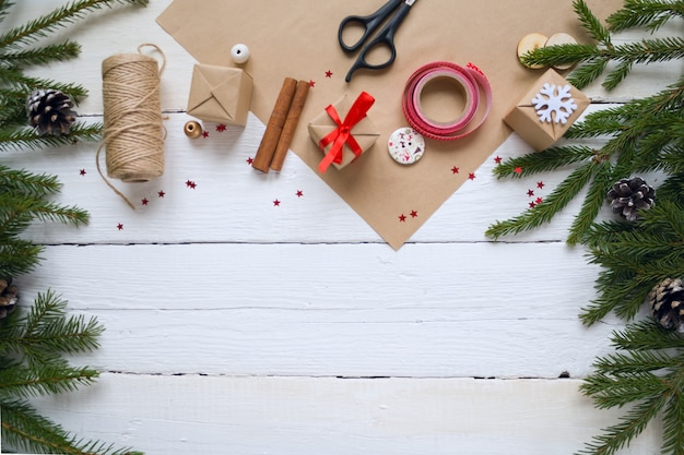 メリークリスマスと新年あけましておめでとうございます、包装ギフト、手作り