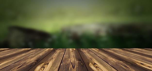 Деревянная доска с размытым фоном