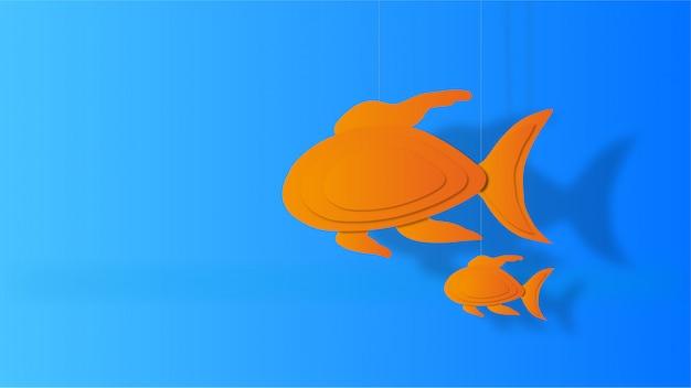 紙の魚と息子