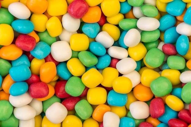 カラフルなお菓子のクローズアップ