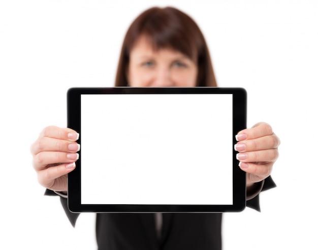 タブレットを持つ女性実業家