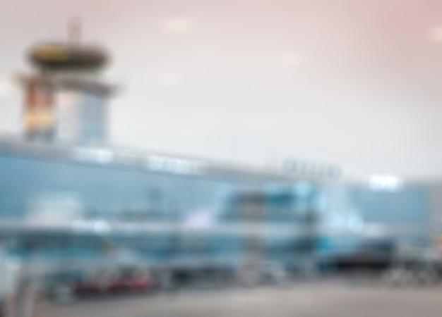 ぼやけている空港