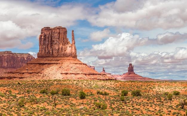 モニュメントバレー、砂漠の風景