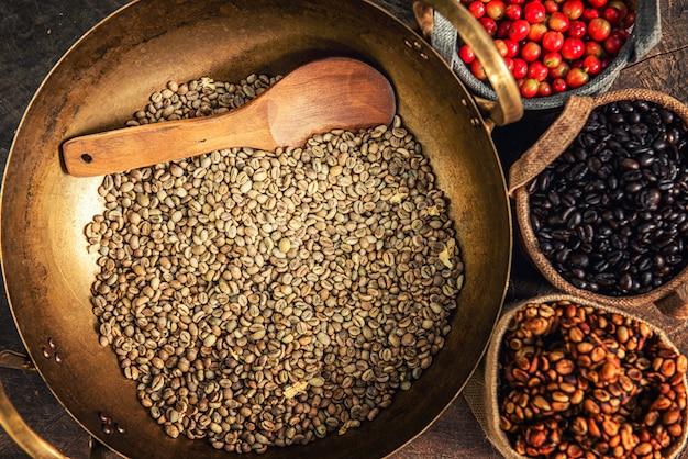 ロブスタ、アラビカ、コーヒーベリー、コーヒー豆