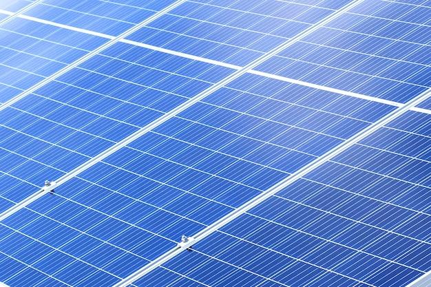 ソーラーパネルの背景。太陽光発電再生可能エネルギー源