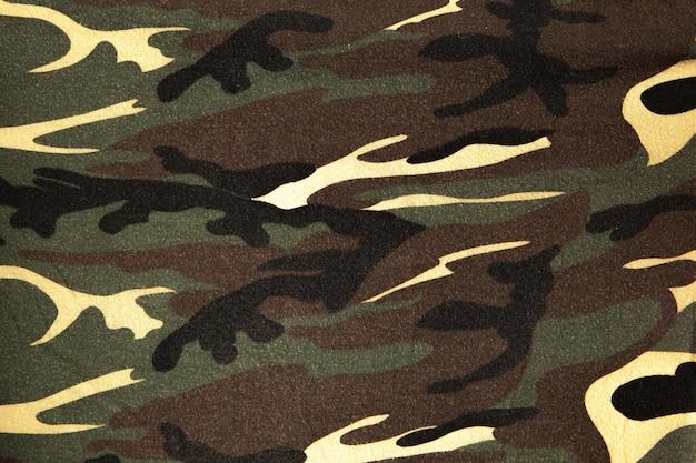 軍服の表面のクローズアップ。生地の質感、クローズアップ、ミリタリーカラーリング