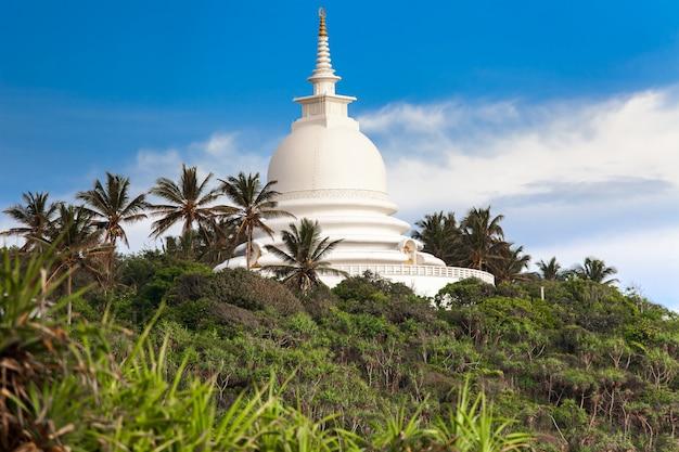 美しい白い寺院。