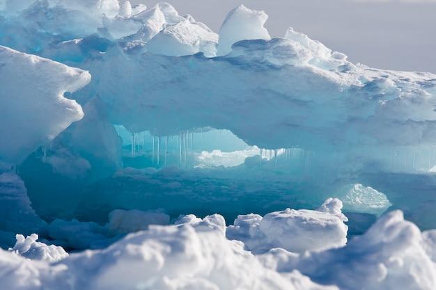 南極氷河。自然の背景