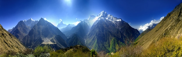 Красивый горный пейзаж.