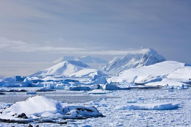 雪をかぶった美しい山々