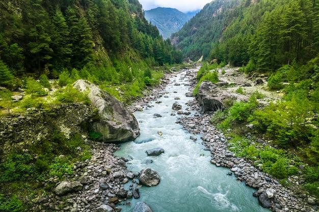 エベレストトレッキングからの川