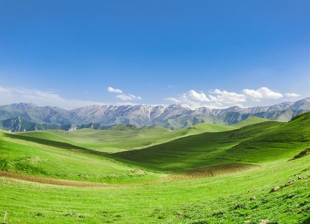 丘と曇り空