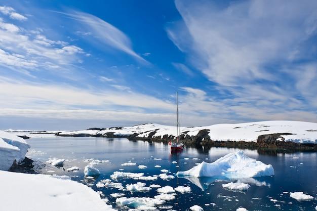 南極のヨット