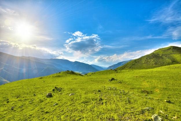 Ландшафт гор в казбекском районе