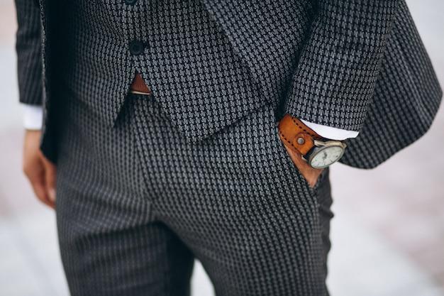 クローズアップ、男性、スーツ