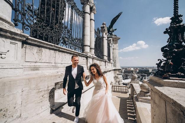 ブダペストのカップルウェディング