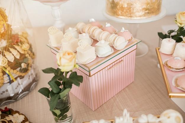 Свадебные столовые десерты