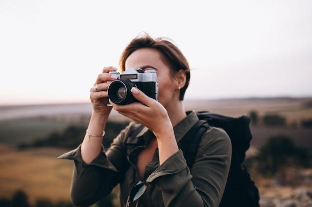 Женщина походы в горы и фото