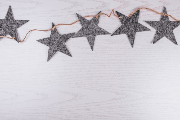 クリスマスフラット横たわっている木製の背景