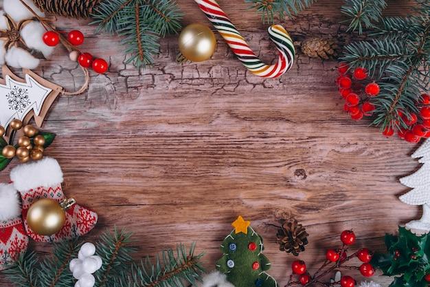 クリスマスプレゼントフラットレイ